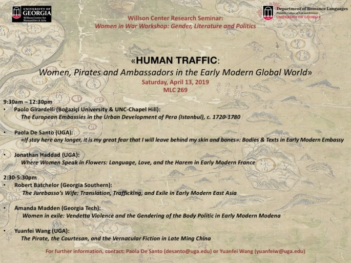 Willson Seminar poster-schedule-HUMAN TRAFFIC